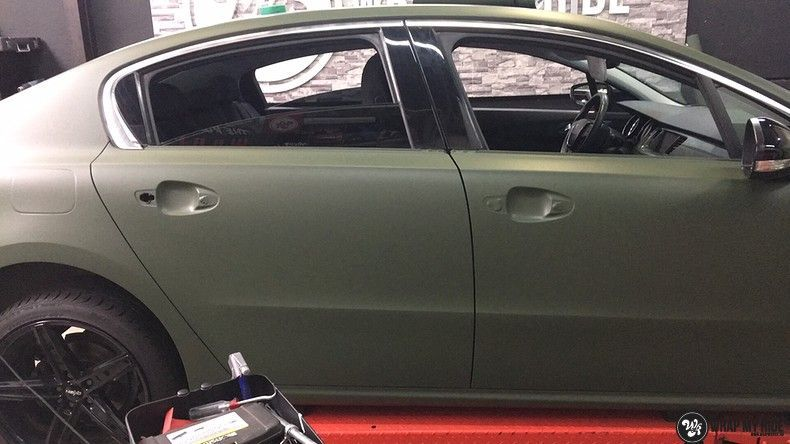 Peugeot 508 3m matte military green, Carwrapping door Wrapmyride.nu Foto-nr:11404, ©2021