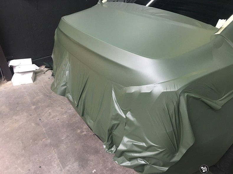 Peugeot 508 3m matte military green, Carwrapping door Wrapmyride.nu Foto-nr:11364, ©2021