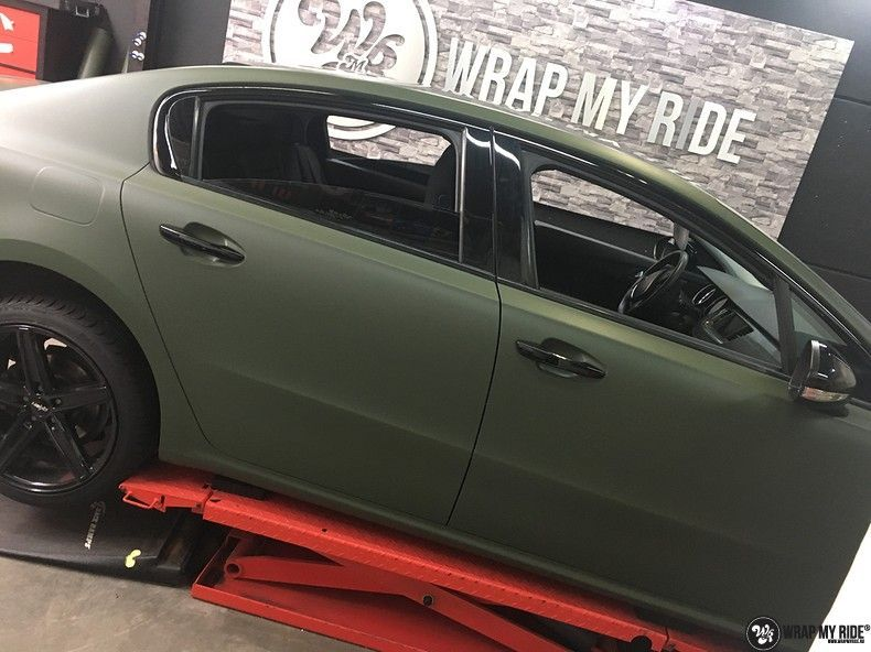 Peugeot 508 3m matte military green, Carwrapping door Wrapmyride.nu Foto-nr:11400, ©2021