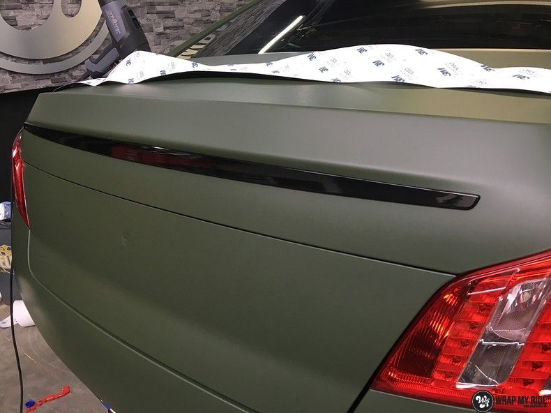 Peugeot 508 3m matte military green, Carwrapping door Wrapmyride.nu Foto-nr:11372, ©2021