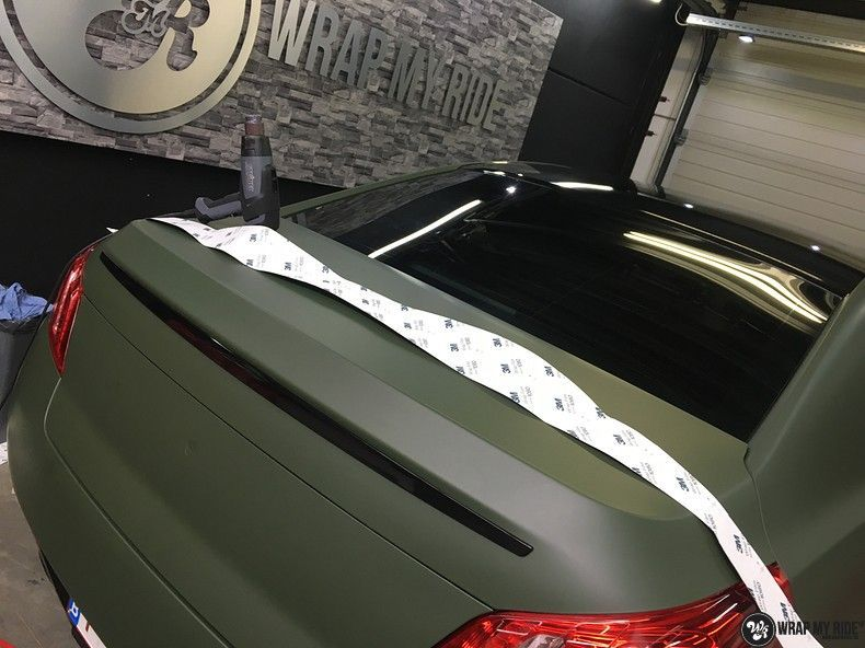 Peugeot 508 3m matte military green, Carwrapping door Wrapmyride.nu Foto-nr:11371, ©2021
