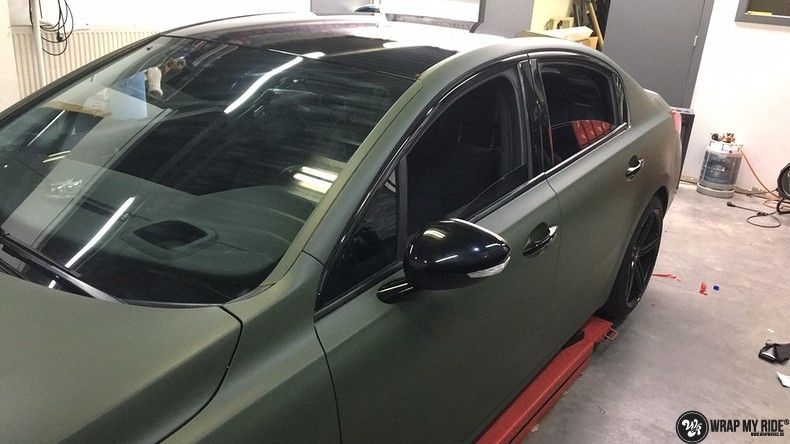 Peugeot 508 3m matte military green, Carwrapping door Wrapmyride.nu Foto-nr:11390, ©2021