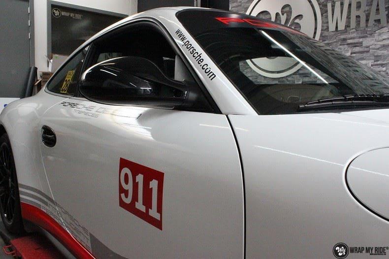 Porsche 911 RSR look, Carwrapping door Wrapmyride.nu Foto-nr:9771, ©2021