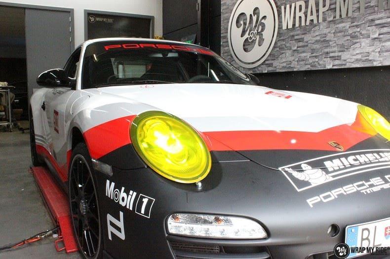 Porsche 911 RSR look, Carwrapping door Wrapmyride.nu Foto-nr:9772, ©2021