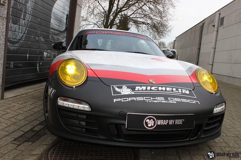 Porsche 911 RSR look, Carwrapping door Wrapmyride.nu Foto-nr:9774, ©2021