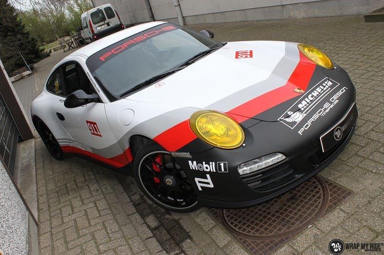 Porsche 911 RSR look, Carwrapping door Wrapmyride.nu Foto-nr:9775, ©2021