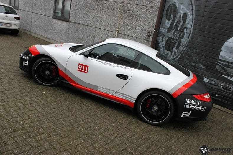 Porsche 911 RSR look, Carwrapping door Wrapmyride.nu Foto-nr:9776, ©2021