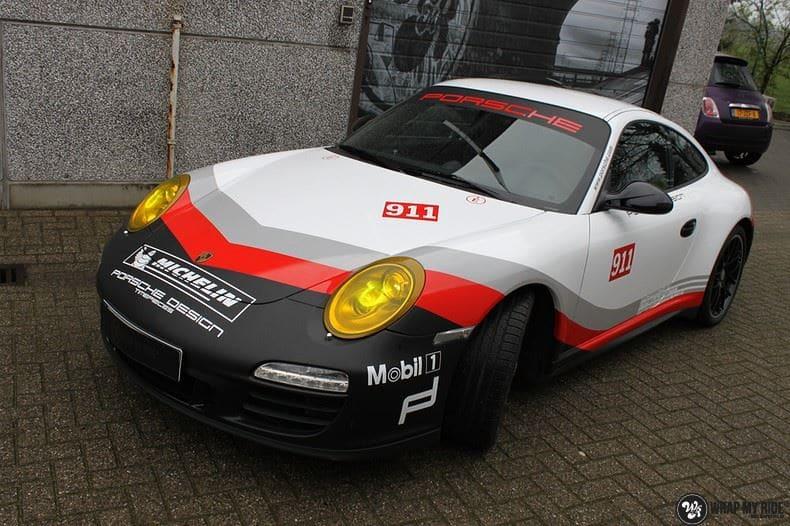 Porsche 911 RSR look, Carwrapping door Wrapmyride.nu Foto-nr:9777, ©2021