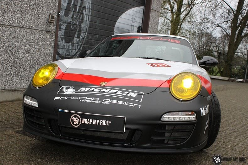 Porsche 911 RSR look, Carwrapping door Wrapmyride.nu Foto-nr:9778, ©2021