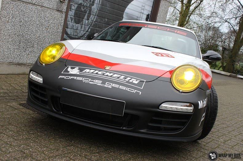 Porsche 911 RSR look, Carwrapping door Wrapmyride.nu Foto-nr:9779, ©2021