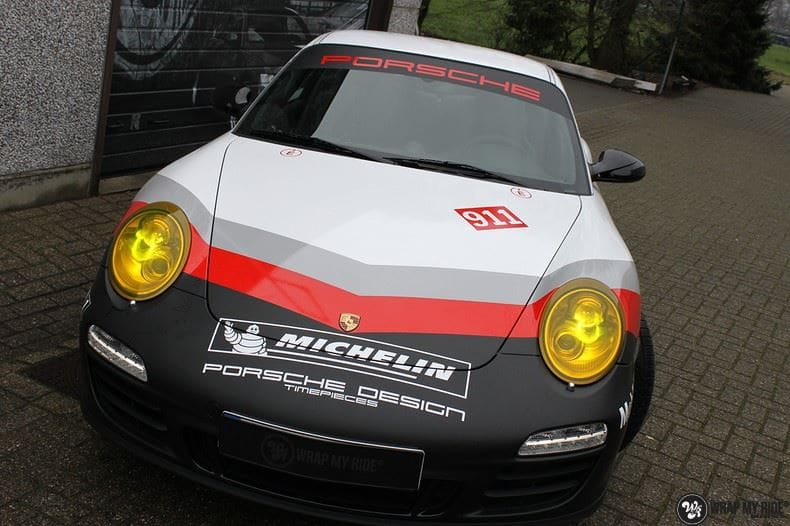 Porsche 911 RSR look, Carwrapping door Wrapmyride.nu Foto-nr:9780, ©2021