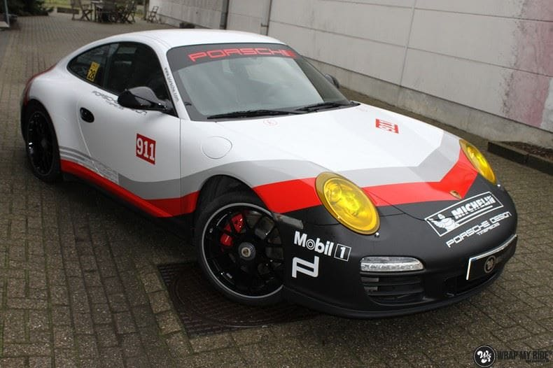 Porsche 911 RSR look, Carwrapping door Wrapmyride.nu Foto-nr:9781, ©2021