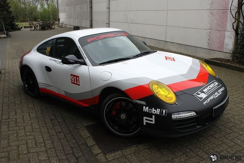 Porsche 911 RSR look, Carwrapping door Wrapmyride.nu Foto-nr:9782, ©2021