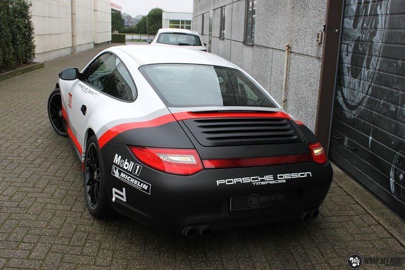 Porsche 911 RSR look, Carwrapping door Wrapmyride.nu Foto-nr:9783, ©2021
