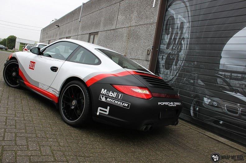 Porsche 911 RSR look, Carwrapping door Wrapmyride.nu Foto-nr:9784, ©2021