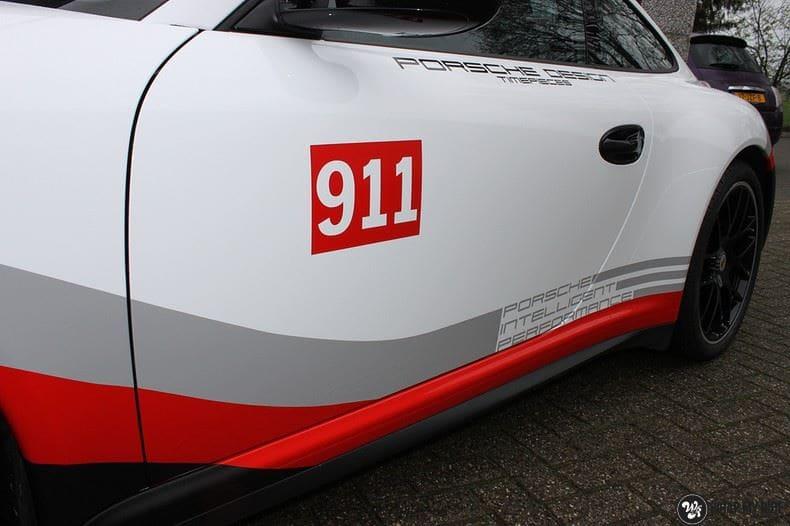 Porsche 911 RSR look, Carwrapping door Wrapmyride.nu Foto-nr:9785, ©2021