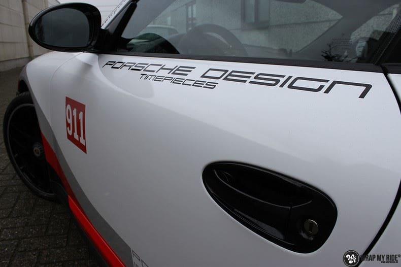 Porsche 911 RSR look, Carwrapping door Wrapmyride.nu Foto-nr:9788, ©2021