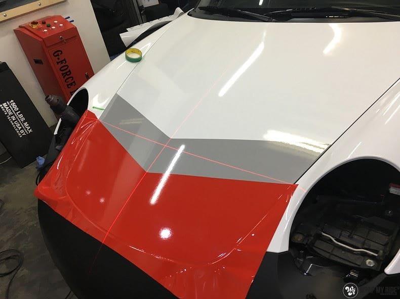 Porsche 911 RSR look, Carwrapping door Wrapmyride.nu Foto-nr:9792, ©2021