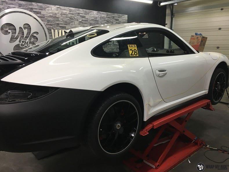 Porsche 911 RSR look, Carwrapping door Wrapmyride.nu Foto-nr:9794, ©2021