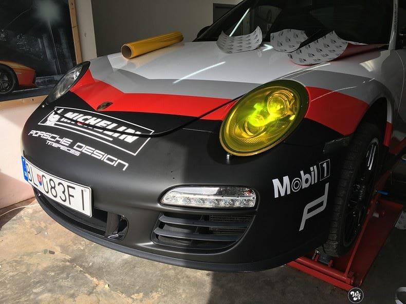 Porsche 911 RSR look, Carwrapping door Wrapmyride.nu Foto-nr:9805, ©2021