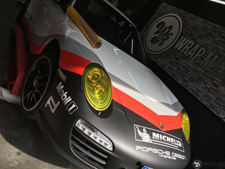 Porsche 911 RSR look, Carwrapping door Wrapmyride.nu Foto-nr:9806, ©2021
