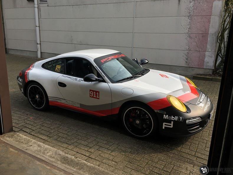 Porsche 911 RSR look, Carwrapping door Wrapmyride.nu Foto-nr:9807, ©2021