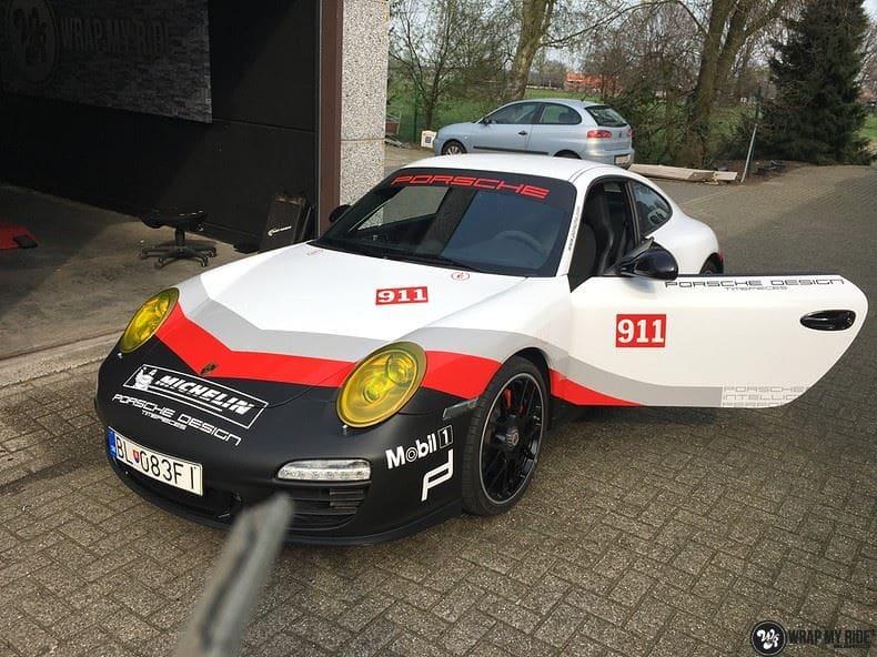 Porsche 911 RSR look, Carwrapping door Wrapmyride.nu Foto-nr:9808, ©2021