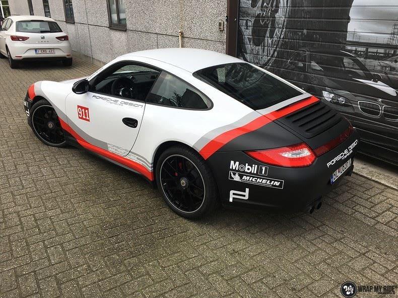 Porsche 911 RSR look, Carwrapping door Wrapmyride.nu Foto-nr:9813, ©2021