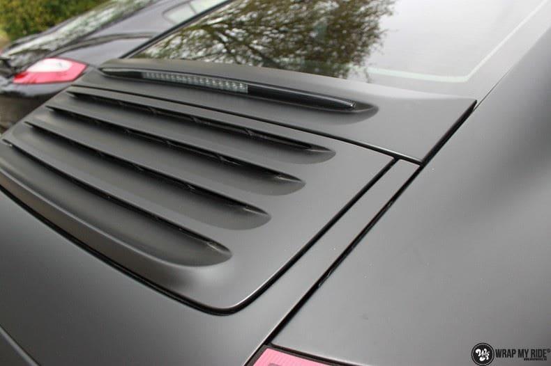 Porsche 997 mat zwart, Carwrapping door Wrapmyride.nu Foto-nr:9063, ©2021
