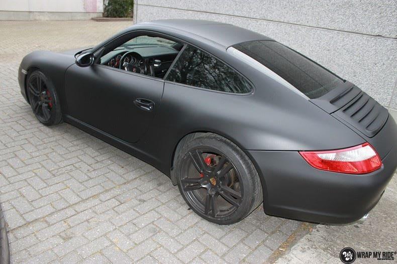 Porsche 997 mat zwart, Carwrapping door Wrapmyride.nu Foto-nr:9060, ©2021