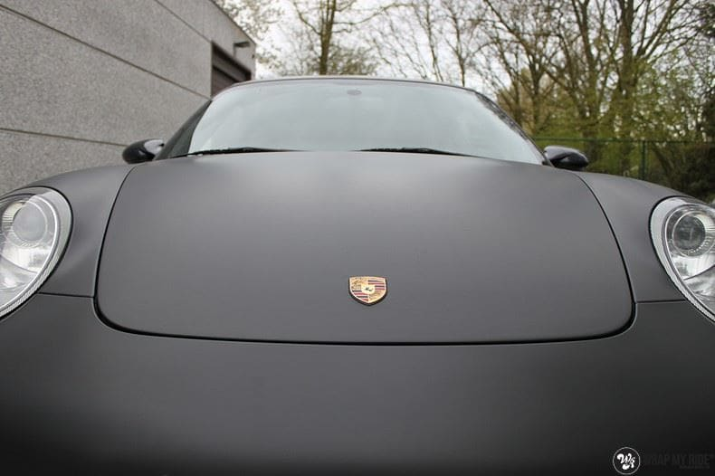 Porsche 997 mat zwart, Carwrapping door Wrapmyride.nu Foto-nr:9055, ©2021