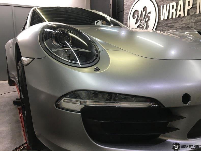 Porsche 997 Satin White Aluminium, Carwrapping door Wrapmyride.nu Foto-nr:9676, ©2021