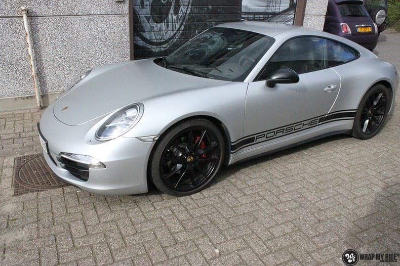 Porsche 997 Satin White Aluminium, Carwrapping door Wrapmyride.nu Foto-nr:9673, ©2021