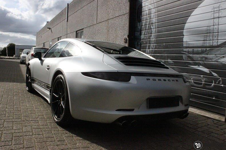 Porsche 997 Satin White Aluminium, Carwrapping door Wrapmyride.nu Foto-nr:9672, ©2021