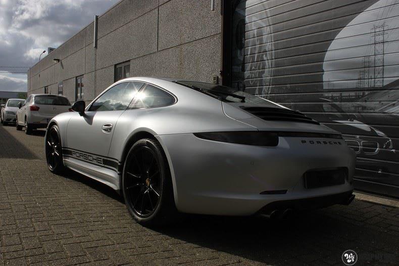 Porsche 997 Satin White Aluminium, Carwrapping door Wrapmyride.nu Foto-nr:9671, ©2021