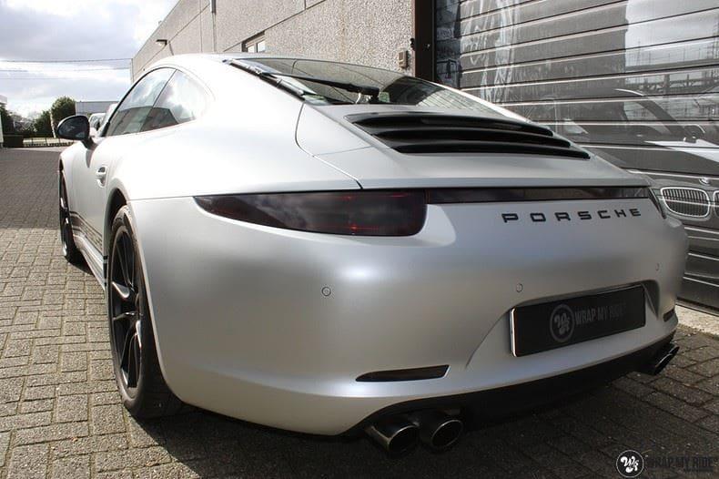 Porsche 997 Satin White Aluminium, Carwrapping door Wrapmyride.nu Foto-nr:9668, ©2021