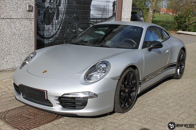 Porsche 997 Satin White Aluminium, Carwrapping door Wrapmyride.nu Foto-nr:9666, ©2021