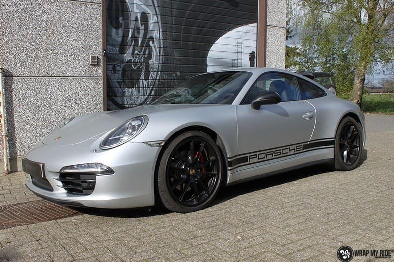 Porsche 997 Satin White Aluminium, Carwrapping door Wrapmyride.nu Foto-nr:9665, ©2021