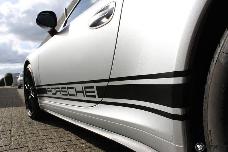 Porsche 997 Satin White Aluminium, Carwrapping door Wrapmyride.nu Foto-nr:9661, ©2021