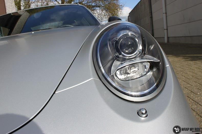 Porsche 997 Satin White Aluminium, Carwrapping door Wrapmyride.nu Foto-nr:9660, ©2021