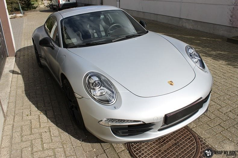 Porsche 997 Satin White Aluminium, Carwrapping door Wrapmyride.nu Foto-nr:9659, ©2021
