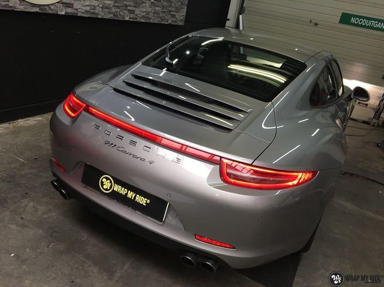 Porsche 997 Satin White Aluminium, Carwrapping door Wrapmyride.nu Foto-nr:9678, ©2021
