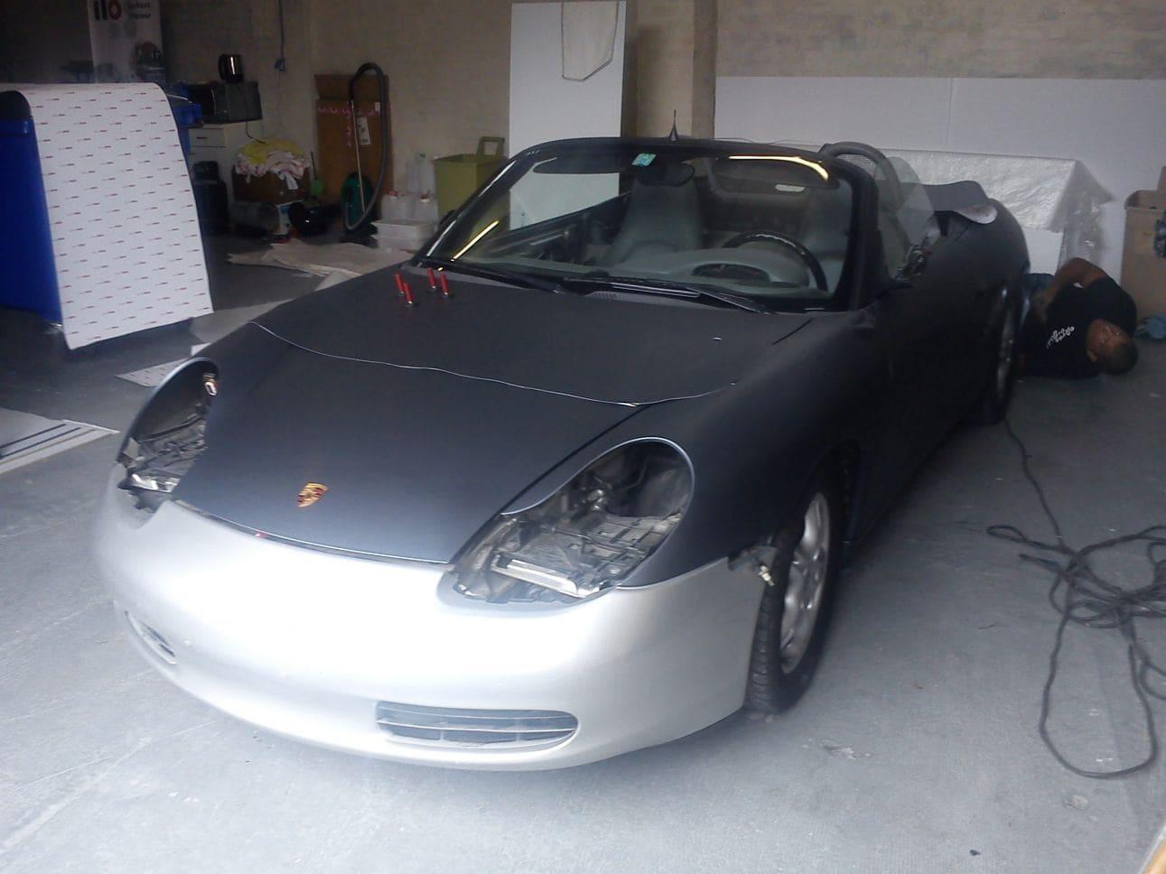 Porsche Boxter met Gunpowder Wrap, Carwrapping door Wrapmyride.nu Foto-nr:6721, ©2021