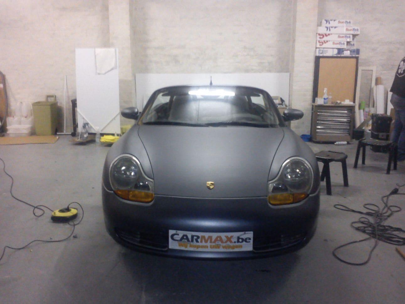 Porsche Boxter met Gunpowder Wrap, Carwrapping door Wrapmyride.nu Foto-nr:6723, ©2021