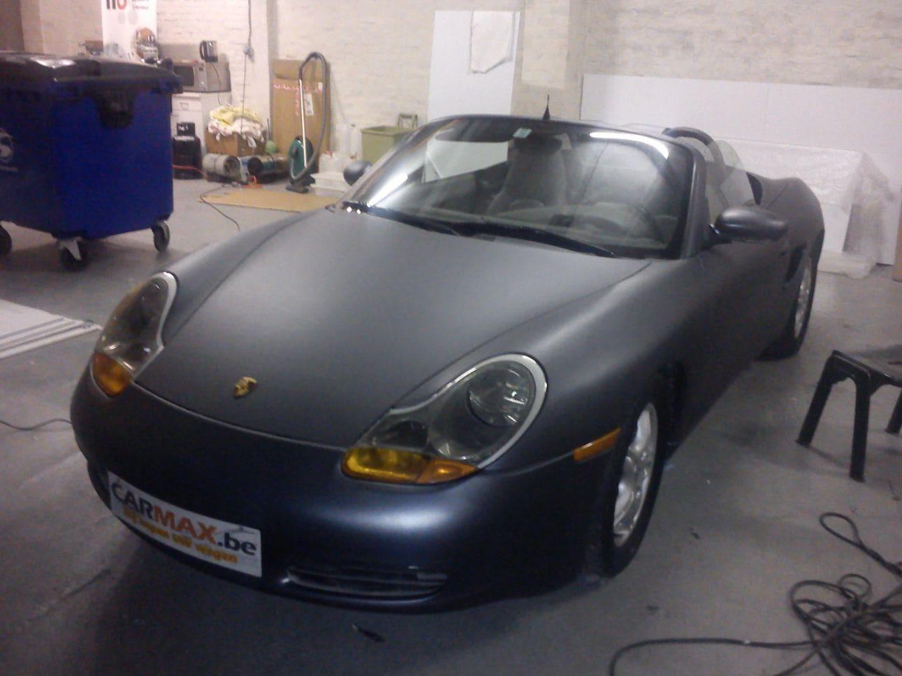 Porsche Boxter met Gunpowder Wrap, Carwrapping door Wrapmyride.nu Foto-nr:6724, ©2021