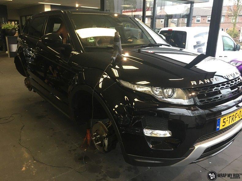 Range Rover Evoque Satin Dark Grey, Carwrapping door Wrapmyride.nu Foto-nr:11014, ©2021