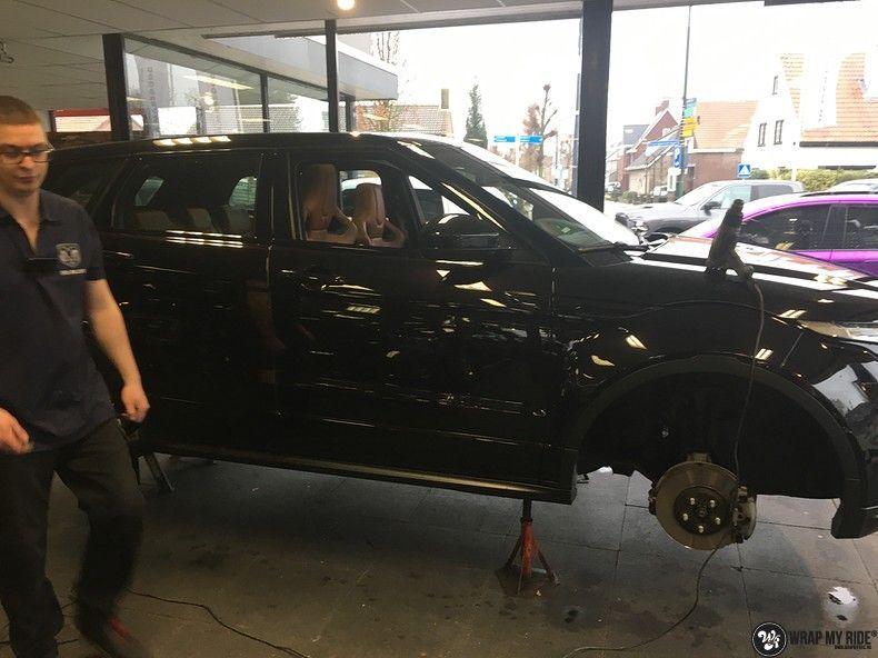 Range Rover Evoque Satin Dark Grey, Carwrapping door Wrapmyride.nu Foto-nr:11015, ©2021