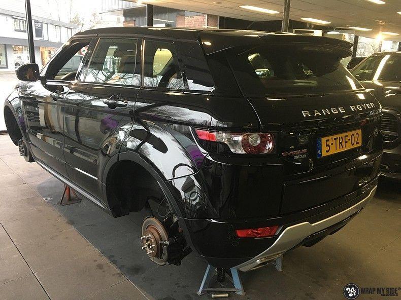 Range Rover Evoque Satin Dark Grey, Carwrapping door Wrapmyride.nu Foto-nr:11011, ©2021