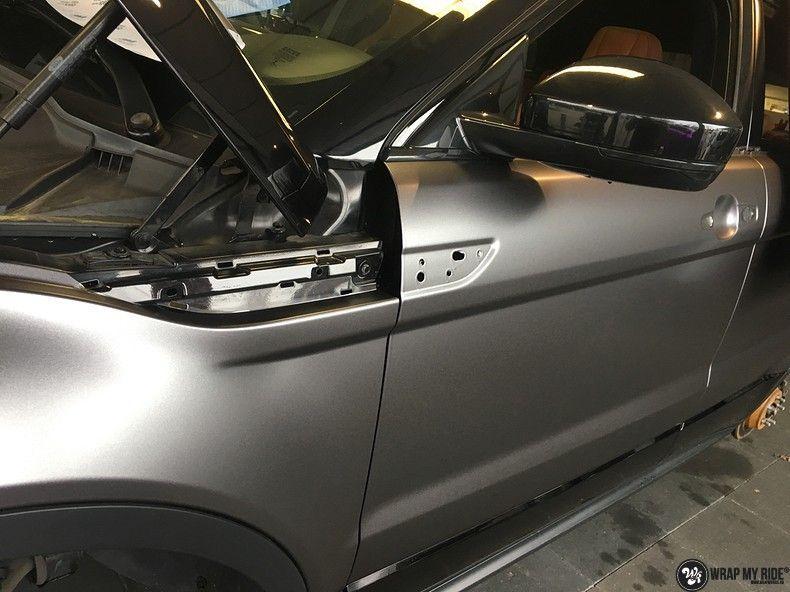 Range Rover Evoque Satin Dark Grey, Carwrapping door Wrapmyride.nu Foto-nr:11012, ©2021