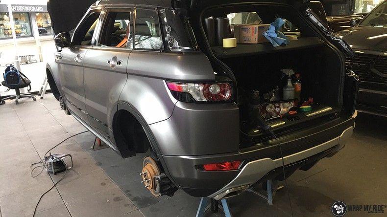 Range Rover Evoque Satin Dark Grey, Carwrapping door Wrapmyride.nu Foto-nr:11040, ©2021